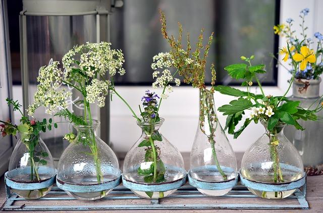 abbastanza Vasi in vetro per fiori e piante, 5 idee di design - Lombarda Flor WM22